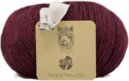 Lana Grossa Alpaca Peru 200 205 Dark Red