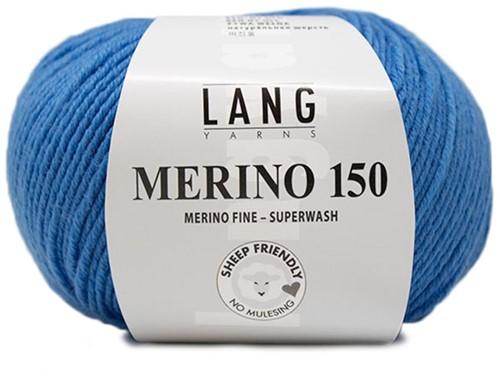 Lang Yarns Merino 150 206 Medium Blue