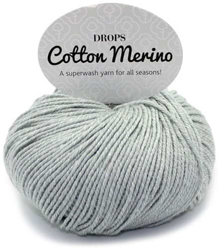 Drops Cotton Merino Uni Colour 20 Lichtgrijs