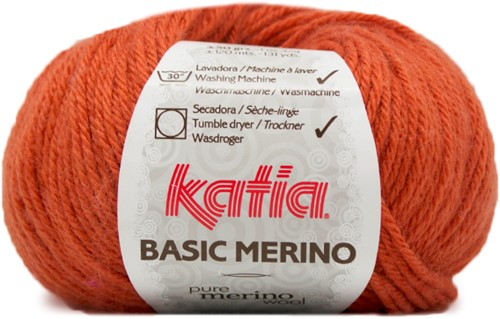 Katia Basic Merino 20 Deep orange