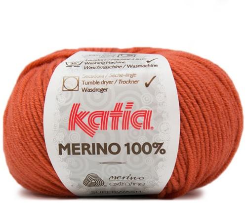 Katia Merino 100% 20 Deep orange