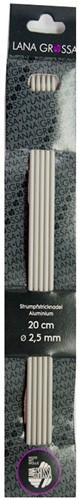Lana Grossa 20cm aluminium kousenbreinaalden
