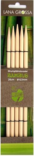 Lana Grossa 20cm Bambus kousenbreinaalden 6.5mm