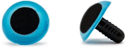 Veiligheidsogen Blauw 20mm per paar