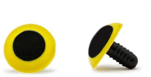 Veiligheidsogen Geel 20mm per paar