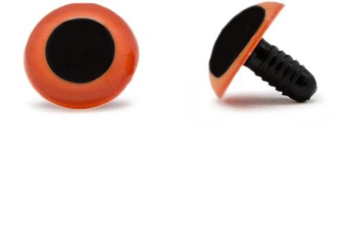 Veiligheidsogen Oranje 20mm per paar