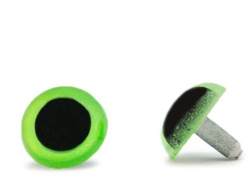 Veiligheidsogen Groen 20mm per paar