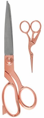 Milward Set Stoffenschaar (25,5cm) & Borduurschaar (11,5cm) Rosé