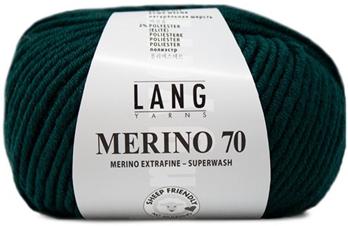 Lang Yarns Merino 70 218 Dark Green