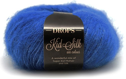 Drops Kid-Silk Uni Colour 21 Cobalt-blue