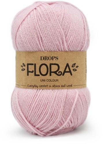 Drops Flora Uni Colour 21 Pink