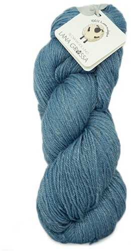 Lana Grossa Slow Wool Lino0 21 Grey-Blue