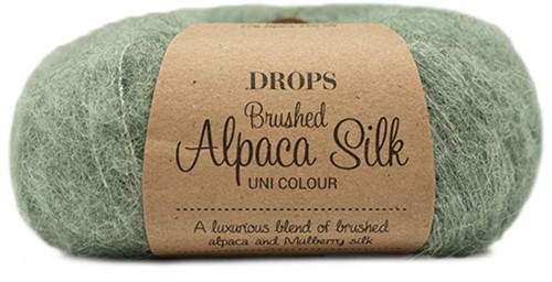 Drops Brushed Alpaca Silk Uni Colour 21 Sage Green