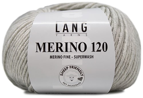 Lang Yarns Merino 120 223 Light Grey Mélange