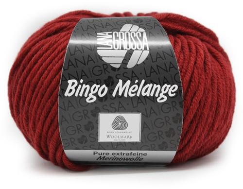Lana Grossa Bingo Melange 226 Dark Red Mottled