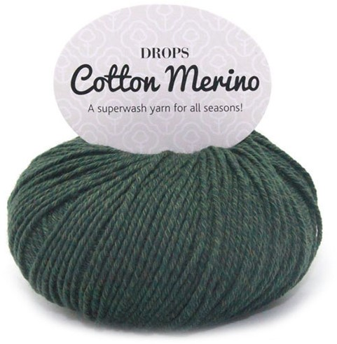Drops Cotton Merino Uni Colour 22 Donkergroen