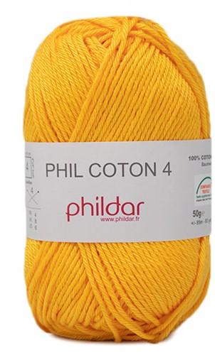 Phildar Phil Coton 4 2317 Jaune d'Or