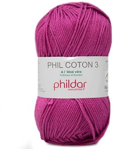 Phildar Phil Coton 3 2349 Magenta