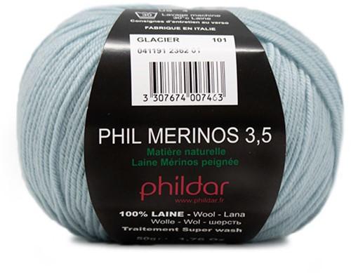 Phildar Phil Merinos 3.5 2362 Glacier