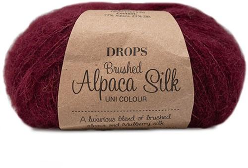 Drops Brushed Alpaca Silk Uni Colour 23 Wine Red