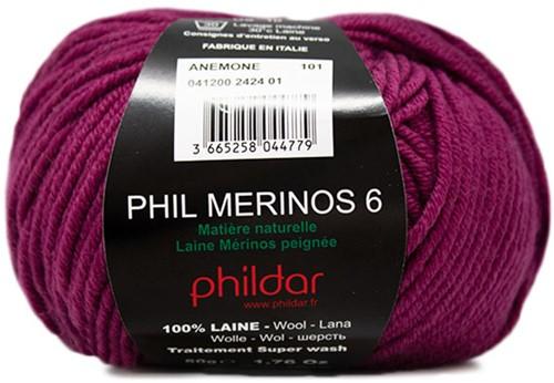 Phildar Phil Merinos 6 2424 Anemone