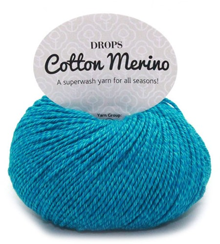Drops Cotton Merino Uni Colour 24 Türkis
