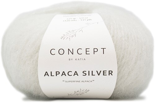 Katia Alpaca Silver 250 Off White silver