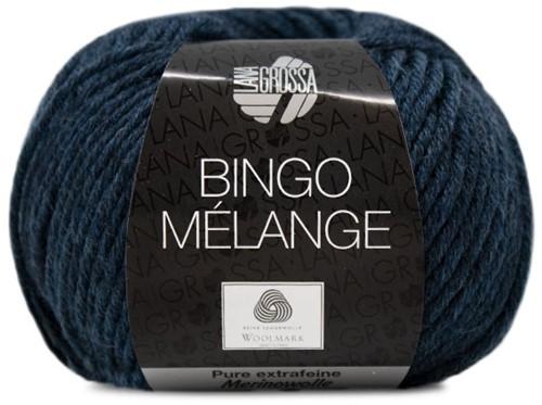 Lana Grossa Bingo Melange 255 Black / Blue Mottled