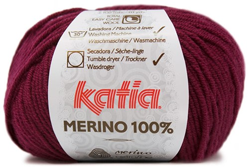 Katia Merino 100% 25 Burgundy red