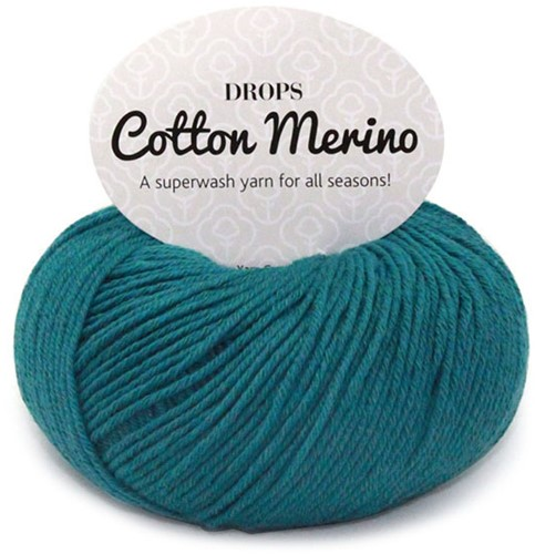 Drops Cotton Merino Uni Colour 26 Stormblauw