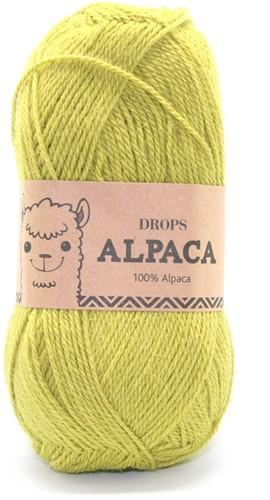 Drops Alpaca Uni Colour 2916 Limoengroen