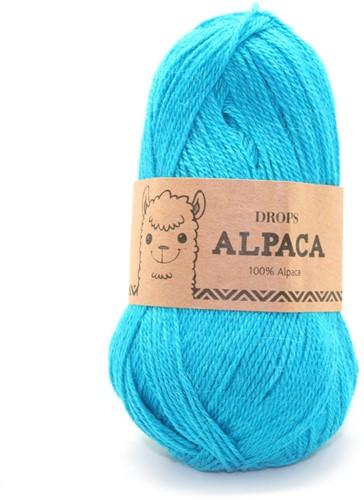 Drops Alpaca Uni Colour 2918 Donkerturkoois