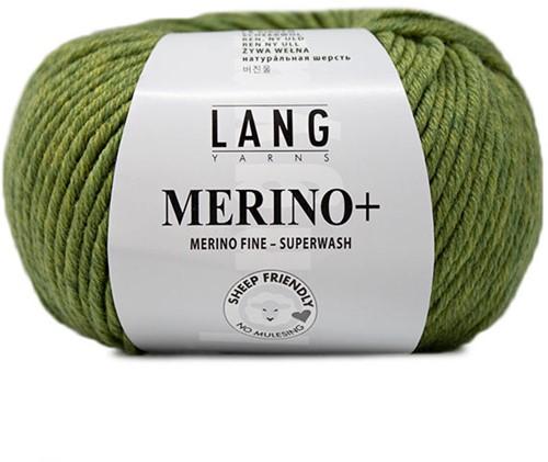 Lang Yarns Merino+ 297 Light Olive Mélange