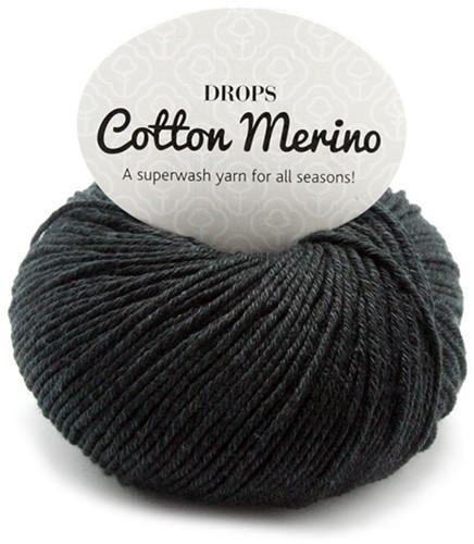 Drops Cotton Merino Uni Colour 2 Zwart
