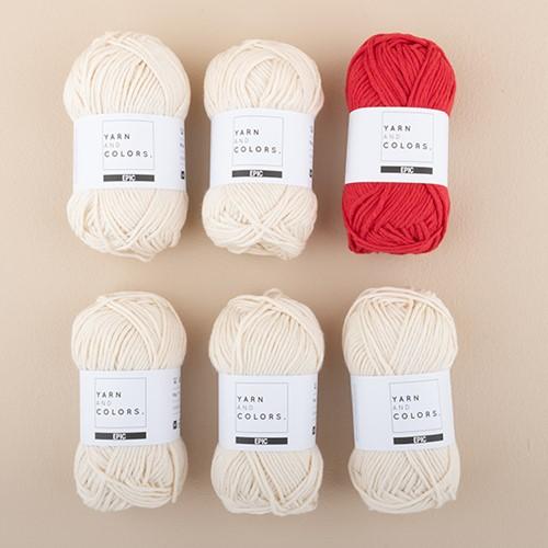 Yarn and Colors Striped Jumper Breipakket 2 XL Cardinal