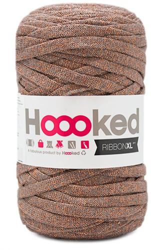 Hoooked RibbonXL Lurex 9 Copper Wood