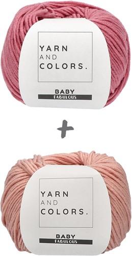 Babydeken Fabulous Gradient Haakpakket 3 Pink