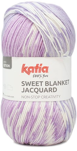 Katia Sweet Blanket Jacquard 300 Purple Lady