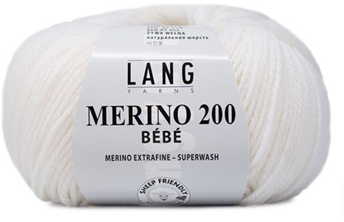 Lang Yarns Merino 200 Bebe 301 White