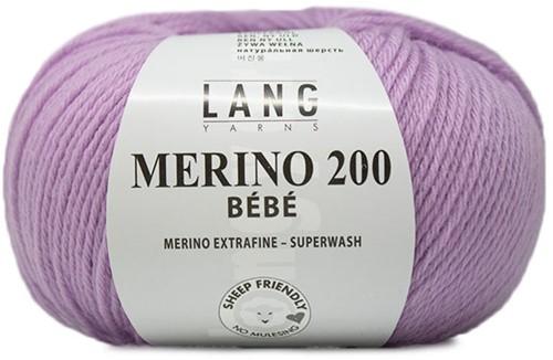 Lang Yarns Merino 200 Bebe 307 Lilac