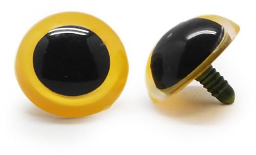 Plastic Veiligheidsogen Basic Geel (per paar) 30mm