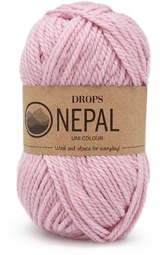 Drops Nepal Uni Colour 3112 Zacht-roze