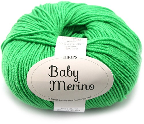 Drops Baby Merino Uni Colour 31 Pittig-groen