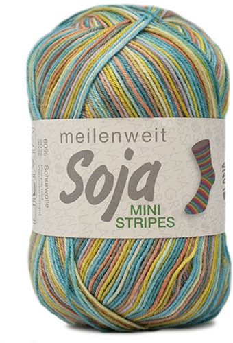Lana Grossa Meilenweit 100 Soja Mini Stripes 323