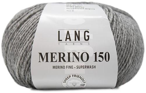 Lang Yarns Merino 150 324 Grey Mélange