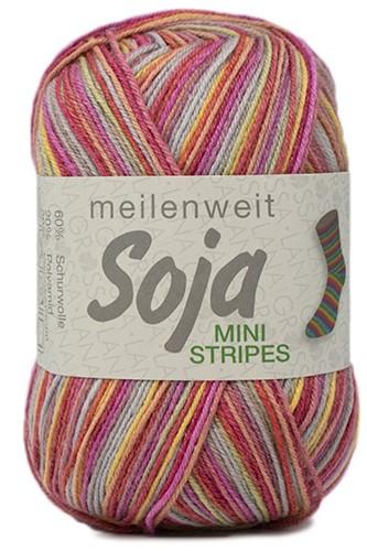 Lana Grossa Meilenweit 100 Soja Mini Stripes 327