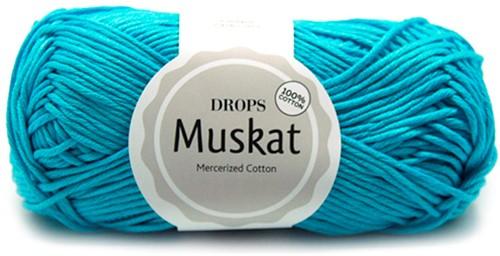 Drops Muskat Uni Colour 32 Turquoise