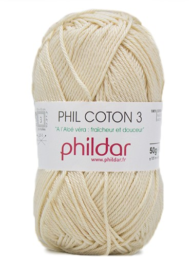 Phildar Phil Coton 3 1359 Ecru