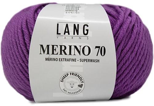 Lang Yarns Merino 70 346 Dark Purple