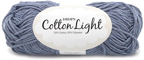 Drops Cotton Light Uni Colour 34 Light-jeans-blue